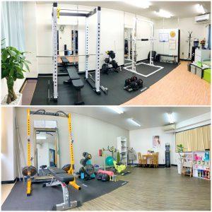 完全個室の2フロア完備のパーソナルトレーニングジム